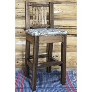 Montana Woodworks  Homestead 30'' Barstool with Cushion; Stain & Lacquer Finish