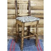 Montana Woodworks  Glacier Country 30'' Barstool with Cushion