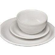 Fiesta Bistro 3 Piece Dinnerware Set; White