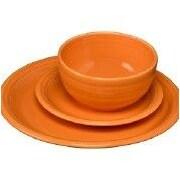 Fiesta Bistro 3 Piece Dinnerware Set; Tangerine