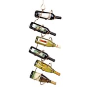 Oenophilia Climbing Tendril Copper 6 Bottle Wall Mount Wine Rack