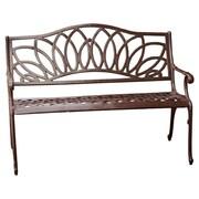 Home Loft Concepts Ramsey Spiral Cast Aluminum Outdoor Bench; Brown