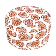 Divine Designs Sara Paisley Ottoman; Dark Orange