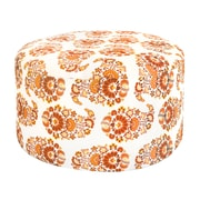 Divine Designs Sara Paisley Ottoman; Light Orange