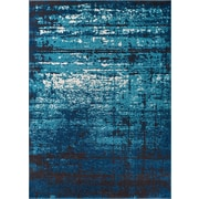 Well Woven Sydney Crosby Modern Distressed Blue Area Rug; 5'3'' x 7'3''