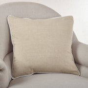Saro Soft Cotton Classic Cotton Throw Pillow