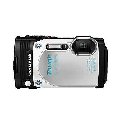 Olympus Tough TG-870 Digital Camera, 5x Optical Zoom, 16MP, White