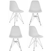 eModern Decor Slope Side Chair (Set of 4); Light Gray