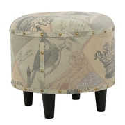 Home Loft Concepts Cathy Round Fabric Ottoman