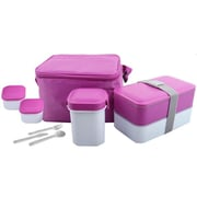 Cookinex 12-Piece Lunch Box Set; Pink