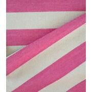 Magdalena York Collection Lina Pink / Cream Area Rug; Runner 3' x 7'