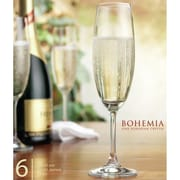 Home Essentials and Beyond Bohemia Vineyard Champagne Glass (Set of 6)