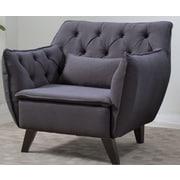 Madison Home USA Mid Century Modern Arm Chair; Dark Gray