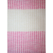Magdalena York Collection Amy Pink / Cream Area Rug; 7' x 9'