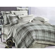 The St. Pierre Home Fashion Collection Oxford 3 Piece Duvet Cover Set; Queen