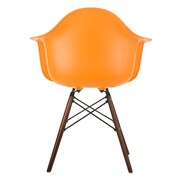 eModern Decor Scandinavian Arm Chair; Orange