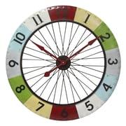 Infinity Instruments Oversized 40'' Colorwheel Spoke Wall Clock