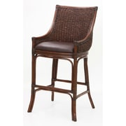 American Woodcrafters Bayside 30'' Bar Stool with Cushion