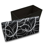 Best Price Quality Memory Foam Foldable Ottoman; Black