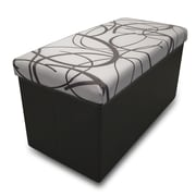 Best Price Quality Memory Foam Foldable Ottoman; White