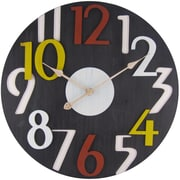 "Infinity Instruments Old Town 27"" Black Wall Clock (15141)"