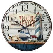 """Infinity Instruments Picture Frames 31"""" Wall Clock (15133)"""
