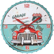 "Infinity Instruments 24""  Wall Clock, Route 66 (15152)"