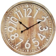"""Infinity Instruments Gold Roman Numerals 26"""" Gold and White Wall Clock (15162GD)"""