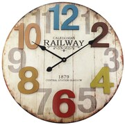 "Infinity Instruments 24""  Wall Clock, Weathered Finish Clock (15169)"