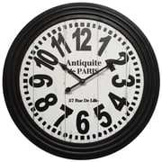 "Infinity Instruments Bailey Street 31"" White Wall Clock (15146)"