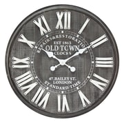 "Infinity Instruments Paris 23.5"" Wall Clock (15168)"