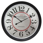 "Infinity Instruments Wood 27.5"" Wall Clock (15166)"
