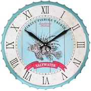 "Infinity Instruments 24""  Wall Clock, Saltwater Fishing  (15154)"