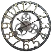 """Infinity Instruments Ole Factory 18"""" Off-White Wall Clock (15158WW-4109)"""