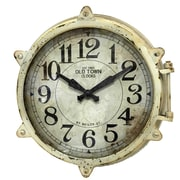 "Infinity Instruments Rue De Paris 31"" Black Wall Clock (15147)"