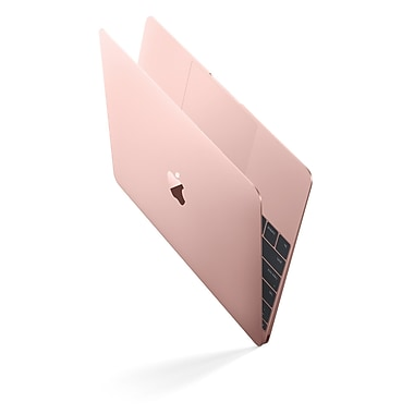 Apple - Macbook (MMGM2C/A) 12 po, Intel Core M5 bicœur 1,2 GHz, RAM 8 Go, SSD 512 Go, or rose, français