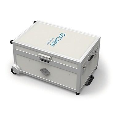 GoCabby – Chariot portable de rangement et chargement 16 Charge & Sync, gris/bleu