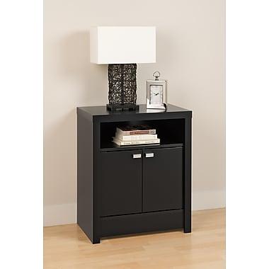 PrepacMC – Grande table de chevet à 2 portes, collection Series 9 Designer, 28 po, noir