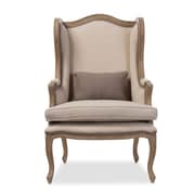 Wholesale Interiors Baxton Studio Oreille French Provincial Style Wingback Chair