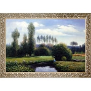 Tori Home 'View at Rouelles Le Havre' by Claude Monet Framed Painting Print