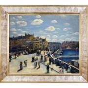 La Pastiche Pont Neuf, 1872 by Pierre-Auguste Renoir Framed Painting Print