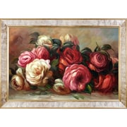 La Pastiche Discarded Roses by Pierre-Auguste Renoir Framed Painting Print; 30'' H x 42'' W x 2''D