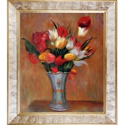 La Pastiche Tulips, 1909 by Pierre-Auguste Renoir Framed Painting Print
