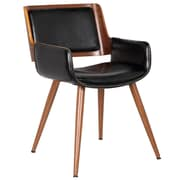 Porthos Home Finnick Leisure Arm Chair; Polished Obsidian