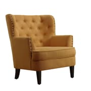 iNSTANT HOME Chrisanna Tufted Upholstered Club Chair; Mustard Yellow