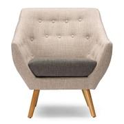 Wholesale Interiors Baxton Studio Astrid Mid-Century Fabric Arm Chair