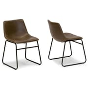 Glamour Home Decor Adan Side Chair (Set of 2)