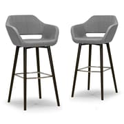 Glamour Home Decor 29.5'' Bar Stool with Cushion (Set of 2)