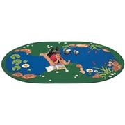 Carpets for Kids Printed The Pond Area Rug; Oval 8'3'' x 11'8''