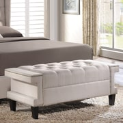 Wholesale Interiors Cheshire Upholstered Bedroom Bench; Light Beige
